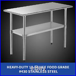 24 x 48 Commercial Work Food Prep Table Stainless Steel Kitchen Restaurant