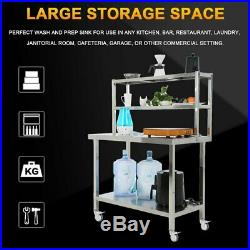 36 x 90 Stainless Steel Work Prep Table with Double shelf Kitchen Restaurant MX