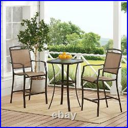 3-Piece Outdoor Patio Bistro Set Table Chairs Garden Seating Conversation Sets