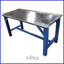 5 ft Work Bench Table with Stainless Steel Top for Shop Garage and Warehouse Dis