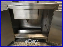 91 Stainless Steel Cabinet 1 Compartment Sink Table Tabco #7255 Commercial NSF