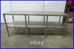 Custom Fab Stainless Steel Parts Assembly Lab Work Bench Table 24 x 90 x 37