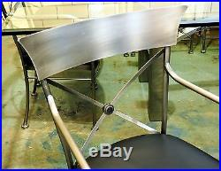 DIA Mixed Metal & Glass Dining Table with 12 Chairs by Steel Klismos 8' x 4.5