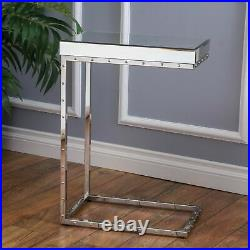 Fawn Mirrored Side Table with Rivet