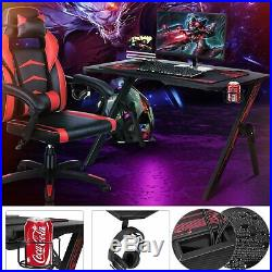 Gaming Desk Home Office Computer Table Ergonomic Racing Style Gamer Student Play