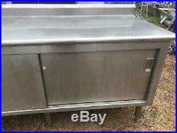 Heavy Duty 6' x 30 Stainless Steel 2 Dr Food Prep Work Table Enclosed Cabinet
