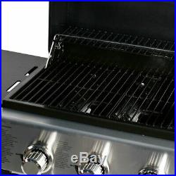 MASTER COOK Performance Stainless Steel 3-Burner Propane Grill Folding Table