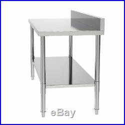 New 24x60x36 Kitchen Stainless Steel Heavy Duty Food Prep Work Table Silver