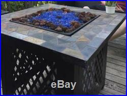 New Outdoor Fire Pit Table Propane Gas Patio Heater Fireplace Backyard Furniture