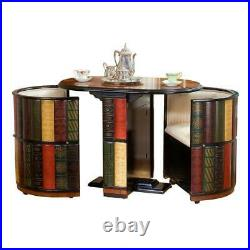 OA3650 Nettlestone Library Ensemble Library Table with2 Barrel Chairs
