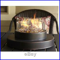 Patio Fire Pit Table Top Portable Fireplace Bowl Heater Propane Gas Outdoor Deck