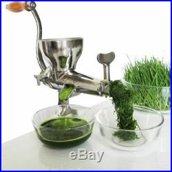 Stainless Steel Manual Juicer Handheld Slow Fruit Wheat Grass Vegetable Squeezer
