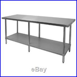 Stainless Steel Work Table 24x84 NSF Flat Top