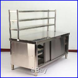 Stainless steel table kitchen cabinet custom work table 1005080cm