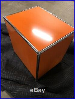 USM Haller Nightstand / Table / Deskstand Orange Barely Used & Great Condition