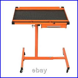 US Heavy Duty Adjustable Work Table Bench with Drawer 200 lbs Rolling Tool Cart