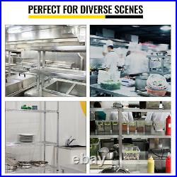 VEVOR Stainless Steel Commercial Wide Double Overshelf 12x72 for Prep Table